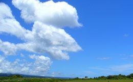 青空とハワイの大地